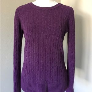 Bass & Co Cable Knit Sweater